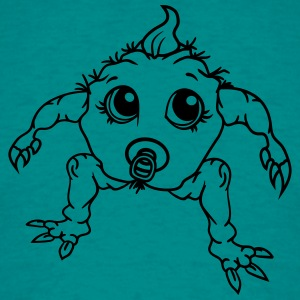 bébé monstre halloween horreur horrible monstre dé Tee shirts - T-shirt Homme
