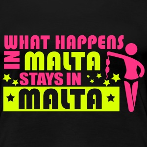 WHAT HAPPENS IN MALTA STAY N MALTA T-Shirts - Women's Premium T-Shirt
