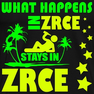 WHAT HAPPENS IN ZRCE STAYS IN ZRCE T-shirts - Mannen Premium T-shirt