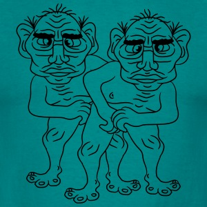 2 naked opas buddies couple love gay gay gay ugly  T-Shirts - Men's T-Shirt