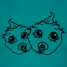 2 siblings twins brothers sisters babies monster h T-Shirts