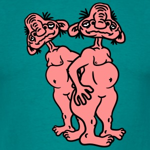 2 old opas naked man ugly disgusting monster horro T-Shirts - Men's T-Shirt