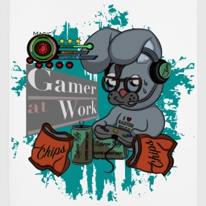 Gamer Hase Gamer at Work  Sonstige - Mousepad (Hochformat)