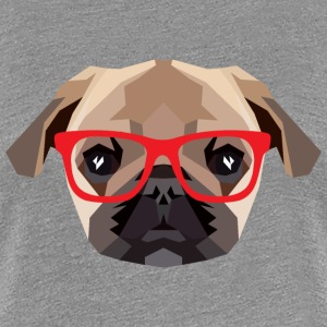 Hipster Mops (Low Poly) T-Shirts - Frauen Premium T-Shirt