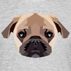Mops (Low Poly) T-Shirts - Männer T-Shirt