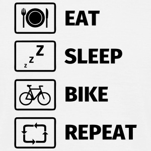 Eat Sleep Bike Repeat Magliette - Maglietta da uomo