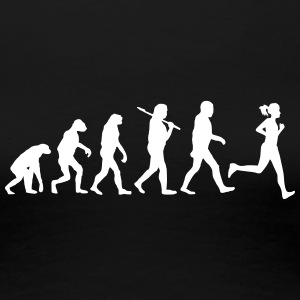 evolution of jogging T-Shirts - Frauen Premium T-Shirt