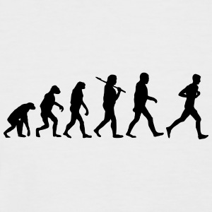 evolution of jogging T-Shirts - Männer Baseball-T-Shirt