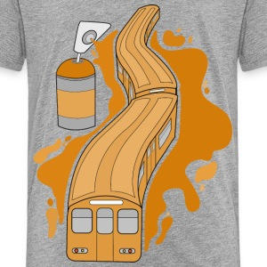 Graffiti Train - Kinder Premium T-Shirt
