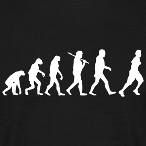 Evolution of Jogging T-Shirts - Männer T-Shirt