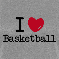 Zoom: Women's Premium T-Shirt with design I love Basketball