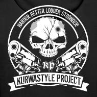 Design ~ Kurwastyle Project Hoodie - Skull