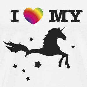 unicorn Shirt I love my Unicorn - Men's Premium T-Shirt