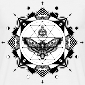 White tattoo mandala T-Shirts - Men's T-Shirt