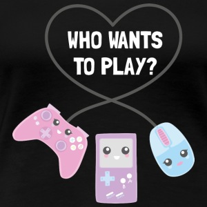 #spreadgaming Let's play! - Frauen Premium T-Shirt