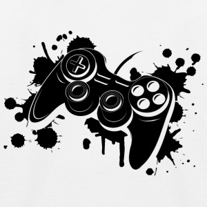 Gamepad Graffiti Shirts - Kids' Baseball T-Shirt
