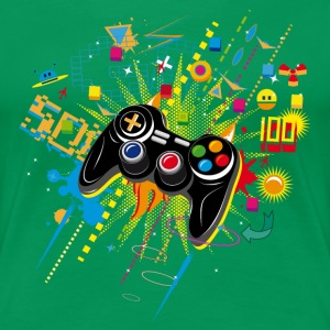 Gamepad Video Games Tee shirts - T-shirt Premium Femme