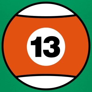 Billiard Ball Number 13 - orange - V3 Shirts - Teenage Premium T-Shirt