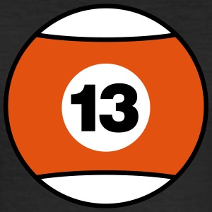 Billiard Ball Number 13 - orange - V3 T-Shirts - Men's Slim Fit T-Shirt