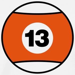 Billiard Ball Number 13 - orange - V2 T-Shirts - Men's Premium T-Shirt