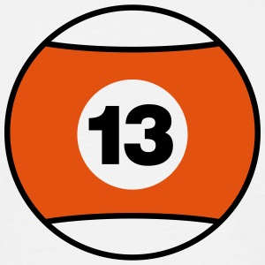 Billiard Ball Number 13 - orange - V2 T-Shirts - Men's T-Shirt