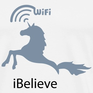 unicorn shirt iBelieve T-Shirts - Men's Premium T-Shirt