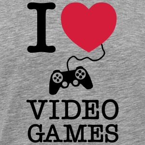 I Love Video Games Camisetas - Camiseta premium hombre
