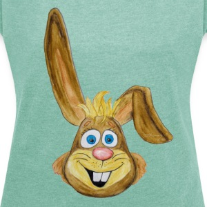 Osterhase / Easter Rabbit T-Shirts - Women's T-shirt with rolled up sleeves