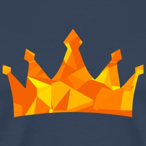 Crown (Low Poly Style) T-Shirts - Männer Premium T-Shirt