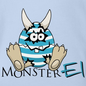 Ostern Monster Ei Baby Bodys - Baby Bio-Kurzarm-Body