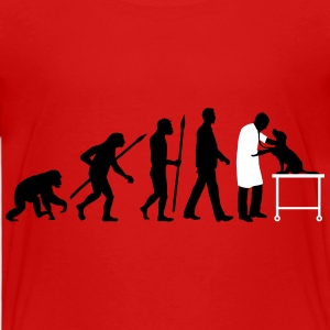 evolution_of_man_tierarzt01_2c T-Shirts - Kinder Premium T-Shirt
