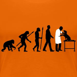 evolution_of_man_tierarzt03_2c T-Shirts - Frauen Premium T-Shirt