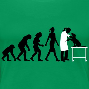 evolution_of_woman_tierarztin01_2c T-Shirts - Frauen Premium T-Shirt