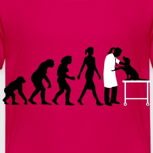 evolution_of_woman_tierarztin02_2c T-Shirts - Kinder Premium T-Shirt