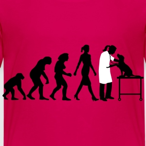 evolution_of_woman_tierarztin03_2c T-Shirts - Kinder Premium T-Shirt