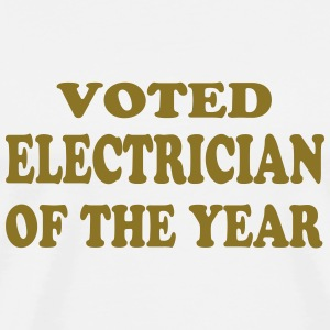 Voted electrician of the year Koszulki - Koszulka męska Premium