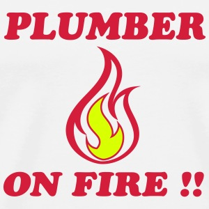 Plumber on fire !! T-Shirts - Men's Premium T-Shirt