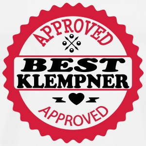 Approved best klempner T-shirts - Herre premium T-shirt