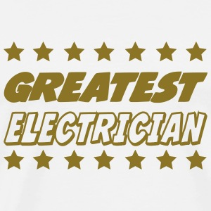 Greatest electrician T-skjorter - Premium T-skjorte for menn
