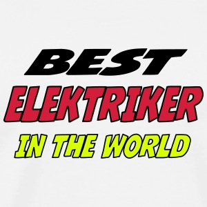 Best elektriker in the world Koszulki - Koszulka męska Premium