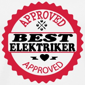 Approved best elektriker T-shirts - Herre premium T-shirt
