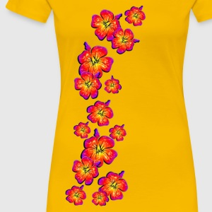 Hibiscus, summer, surf beach, Hawaii, water sports T-Shirts - Women's Premium T-Shirt