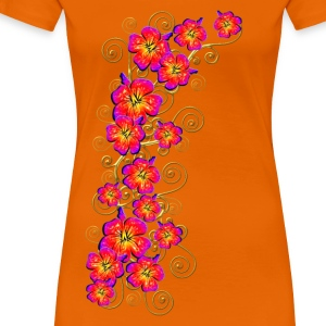 Hibiscus, summer, surf beach, Hawaii, water sports Camisetas - Camiseta premium mujer