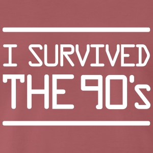 I Survived the 90´s T-shirts - Premium-T-shirt herr