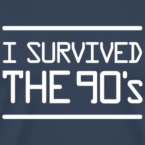 I Survived the 90´s T-shirts - Mannen Premium T-shirt