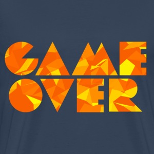 Game Over (Low Poly) T-shirts - Herre premium T-shirt