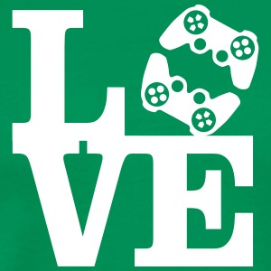 Love Gaming (Controller) T-shirts - Herre premium T-shirt