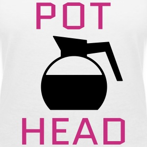 Pot Head T-Shirts - Women's V-Neck T-Shirt
