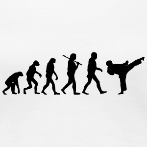 Evolution of Karate T-Shirts - Frauen Premium T-Shirt
