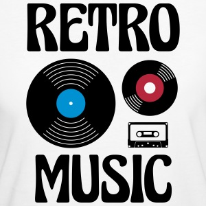 Retro Music  T-Shirts - Frauen Bio-T-Shirt